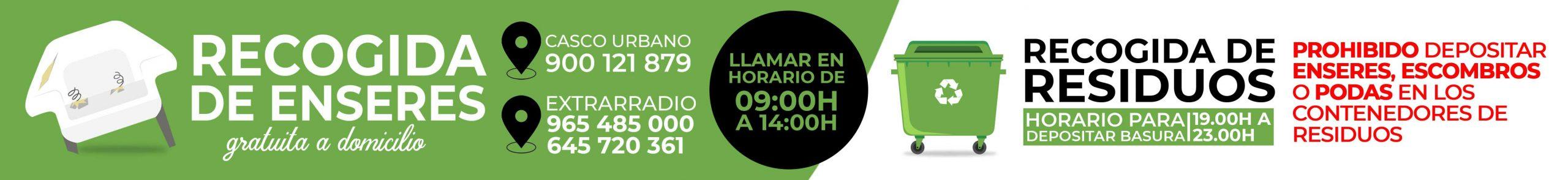 Banner Campaña Enseres y Basura Albatera
